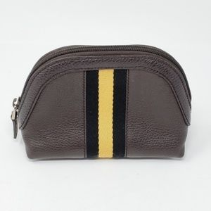 100% Auth Gucci Cosmetic Pouch Leather Bag